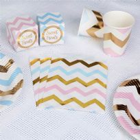 Pattern Works Pink & Blue Chevron Sweet Bags (25)